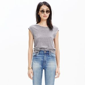 Madewell Marquee Tee in Stripe - XS